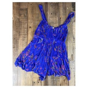 Free People Floral Drapes Tank Top